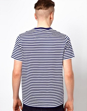 Image 2 ofFred Perry T-Shirt with Stripe and Check Pocket