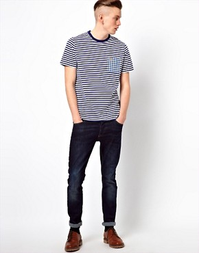 Image 4 ofFred Perry T-Shirt with Stripe and Check Pocket
