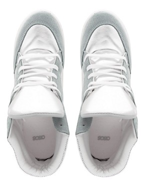 Image 3 ofASOS DENY Wedge High Top Trainers With Suede Detail