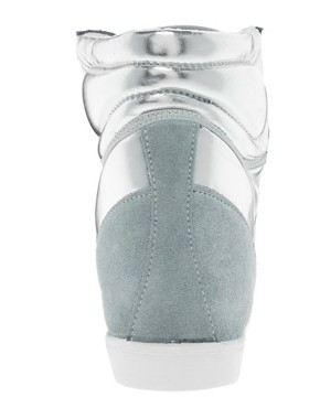 Image 4 ofASOS DENY Wedge High Top Trainers With Suede Detail