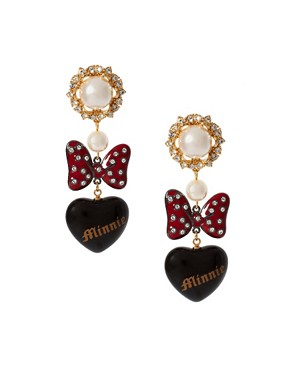 Image 1 ofMinnie Mawi By Disney Couture Minnie Bow Earrings