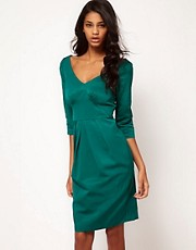 ASOS Wiggle Dress With Wide V Neck
