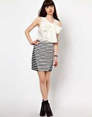 Markus Lupfer Stipe Panel Skirt