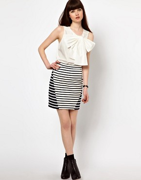 Image 1 of Markus Lupfer Stipe Panel Skirt