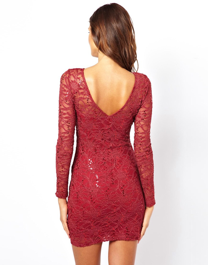 Image 2 of Lipsy Lace Sequin Dress