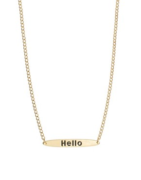 Image 1 ofASOS Hello Necklace