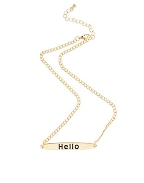 Image 2 ofASOS Hello Necklace
