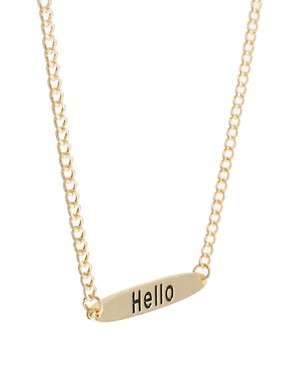 Image 4 ofASOS Hello Necklace