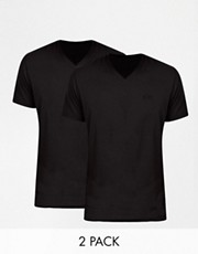 Boss Black  T-Shirts mit V-Ausschnitt im 2er-Pack