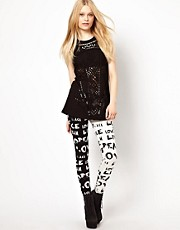 River Island Word Print Legging