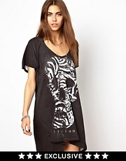 Religion Skull T-Shirt Dress Exclusive to ASOS