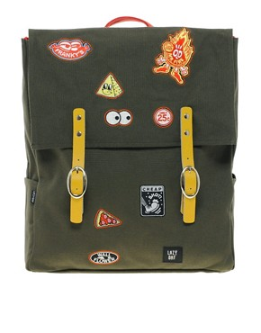 Lazy Oaf | Lazy Oaf Patches Square Backpack   from us.asos.com
