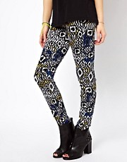 Jeggings con estampado azteca de b + ab
