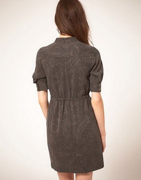 Image 2 ofNW3 Swirl Print Shirt Dress in Tencel