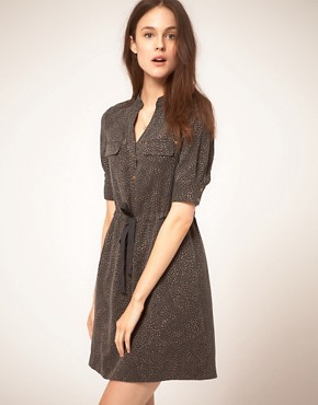 Image 1 ofNW3 Swirl Print Shirt Dress in Tencel