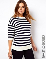ASOS CURVE Exclusive Jumper In Stripe