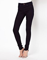 ASOS Ridley Supersoft High Waisted Ultra Skinny Jeans in Deep Indigo