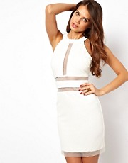 Lipsy Bodycon Dress with Sheer Inserts