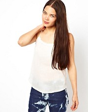 Zadig and Voltaire  Camisole mit Spitzenbesatz