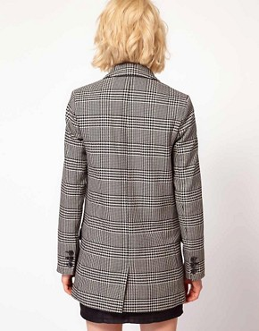 Image 2 ofASOS Check Longline Blazer