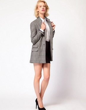 Image 4 ofASOS Check Longline Blazer