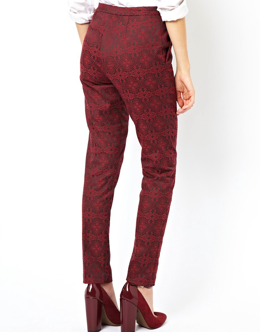 Image 2 of ASOS Trousers in Evening Jacquard