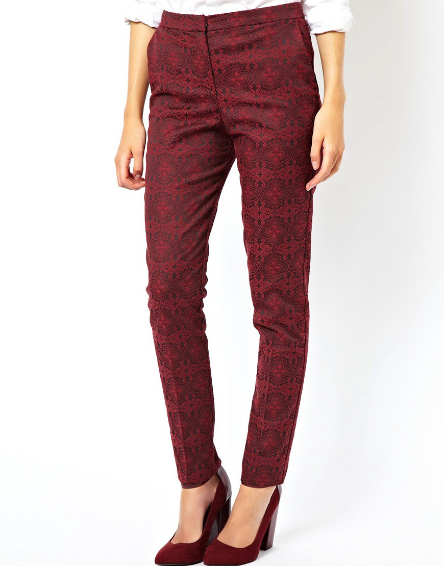 Image 4 of ASOS Trousers in Evening Jacquard