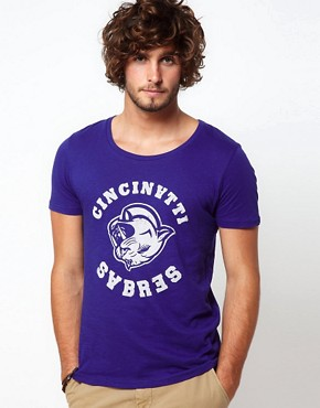 Image 1 ofASOS T-Shirt With Varsity Print