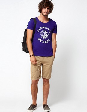 Image 4 ofASOS T-Shirt With Varsity Print