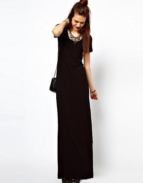 Image 4 of ASOS Maxi Dress With T-Shirt Sleeve.