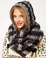 Image 1 ofASOS Mix Knit Hooded Snood
