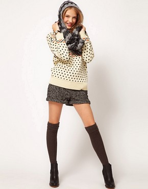 Image 3 ofASOS Mix Knit Hooded Snood