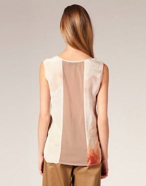 Image 2 ofLouise Amstrup Light Print Top In Silk