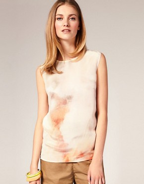 Image 1 ofLouise Amstrup Light Print Top In Silk