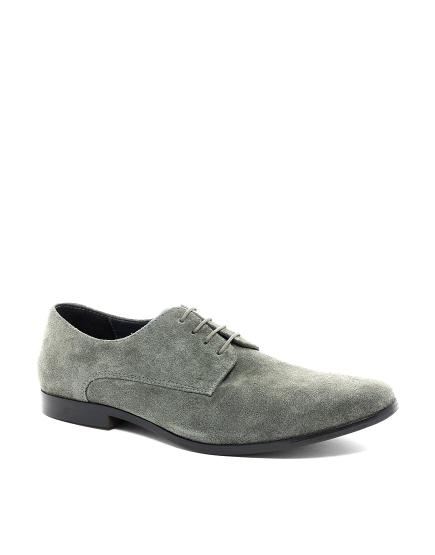 Image 1 of ASOS Derby Shoes in Suede