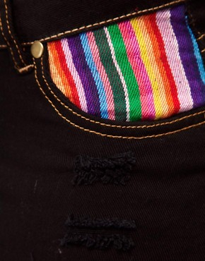 Image 3 ofReverse Stripe Pocket Denim Shorts