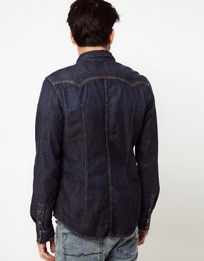 Image 2 ofNudie Shirt Guston Denim Organic Blue