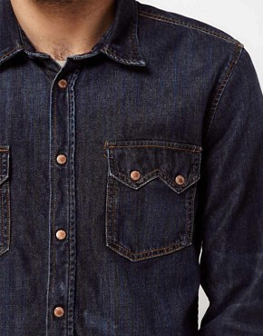 Image 3 ofNudie Shirt Guston Denim Organic Blue