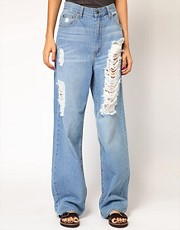 Cheap Monday Omega Distressed Boyfriend Jeans