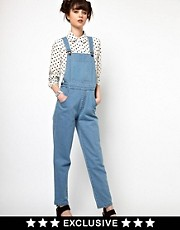 The WhitePepper Denim Dungarees in Blue Wash