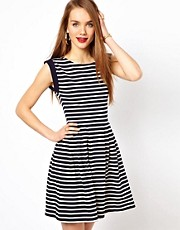 French Connection Stripe Skater Dress