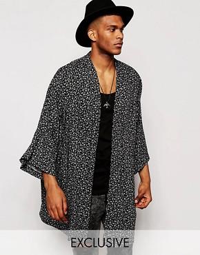 Reclaimed Vintage Kimono Jacket In Ditsy Print