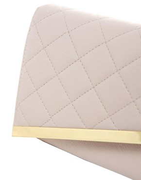 Image 4 ofASOS Quilted Diagonal Clutch Bag