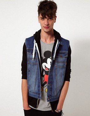 Image 1 ofASOS Sleeveless Denim Jacket