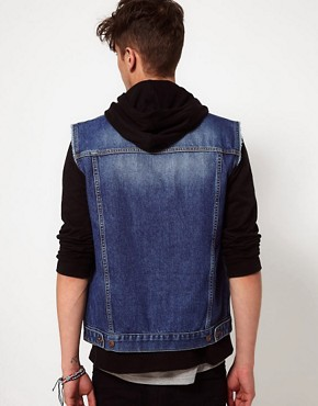 Image 2 ofASOS Sleeveless Denim Jacket