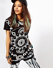 ASOS Oversize T-Shirt with Kaleidoscope Print