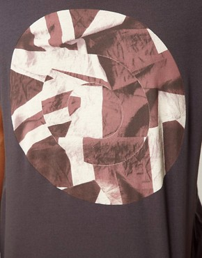 Image 3 ofBen Sherman T-Shirt with Broken Record Print