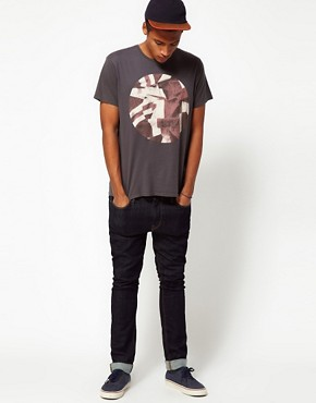 Image 4 ofBen Sherman T-Shirt with Broken Record Print
