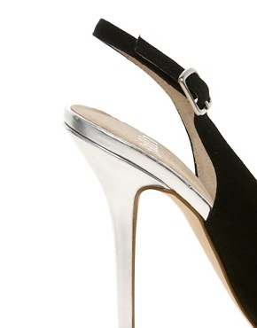 Image 2 ofFaith Crush Metallic Court Shoes