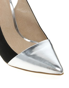 Image 3 ofFaith Crush Metallic Court Shoes